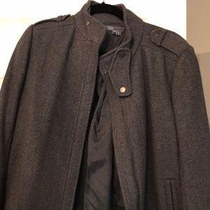 Vince wool tweet moto jacket